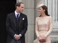 Prince William (L) and his wife Catherine at Buckingham Palace in London on June 5. The couple will appear along with a flock of European royals including Prince Albert of Monaco at Friday's Olympic opening ceremony