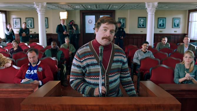 """This film image released by Warner Bros. shows Zach Galifianakis as Marty Huggins in a scene from """"The Campaign."""" (AP Photo/Warner Bros.)"""
