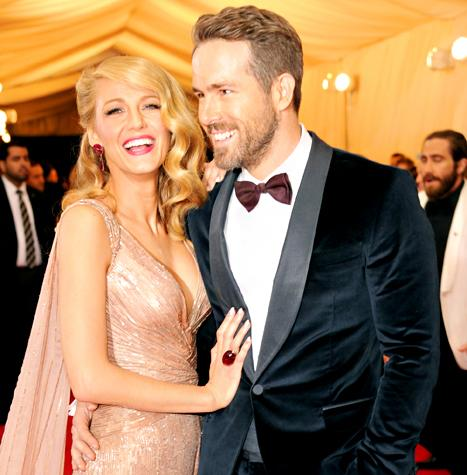 Blake Lively, Ryan Reynolds Look Affectionate and Gorgeous in Gucci at Met Gala 2014