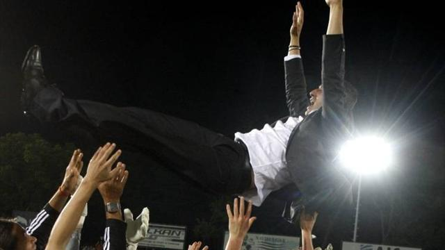European Football - Levski fans force new coach out of first news conference