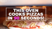 This oven cooks pizzas in 90 seconds