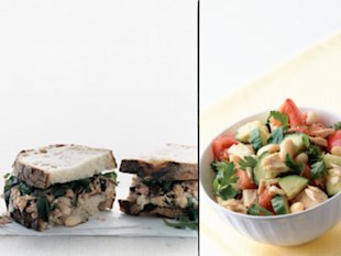 Try pairing tuna and beans. From right: Tuscan Tuna-and-Bean Sandwiches; Tuna and White Bean Salad