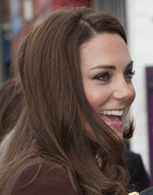 The Duchess of Cambridge arrives at The Brink in Liverpool, England, Tuesday, Feb. 14, 2012. The Duchess is visiting as Patron of Action on Addiction. The Brink is an alcohol-free bar in Liverpool, linked to Action on Addiction's SHARP recovery service in the city. The bar is a social enterprise run primarily to help people recovering from drink and drug addiction. (AP Photo/Mark Large, Pool)