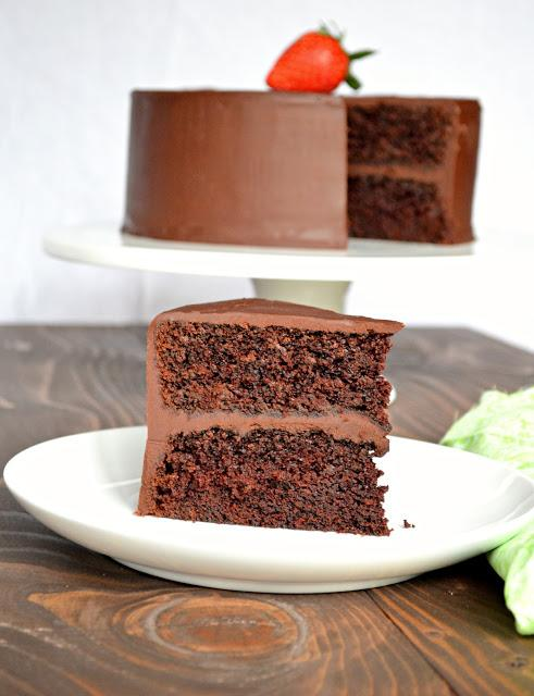 Chocolate Cake With Ganache Frosting