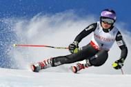 France's Tessa Worley in action during the women's giant slalom at the World Ski Championships in St Moritz, on February 16, 2017