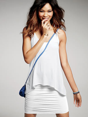Victoria's Secret Ruched White Mini Skirt
