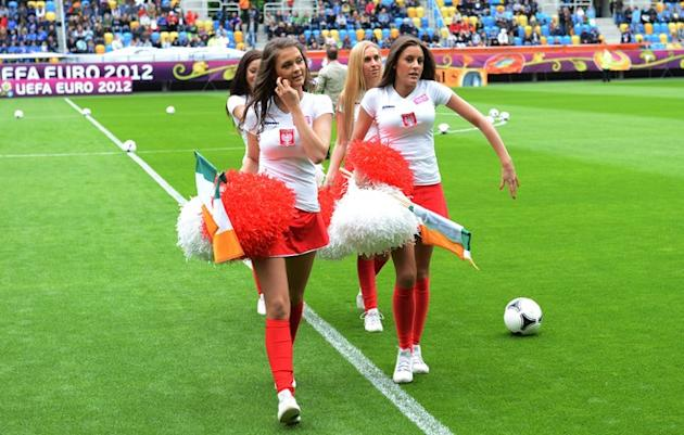Polish Cheerleaders AFP/Getty Images
