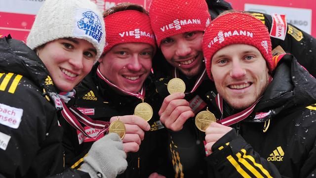 Luge - German lugers set for medal bonanza in Russia
