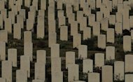 "View of a cemetary in Hong Kong, on December 22, 2011. Four people have been jailed in China for digging up corpses to sell as brides for traditional ""ghost marriages"" -- where dead single men are buried with a wife for the afterlife -- local reports said"
