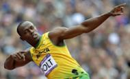 Jamaica's Usain Bolt gestures before the men's 200m heats at the athletics event during the London 2012 Olympic Games. Chinese athletics icon Liu Xiang endured a dreadful repeat of his Beijing Olympics heartbreak as he suffered a suspected ruptured Achilles tendon