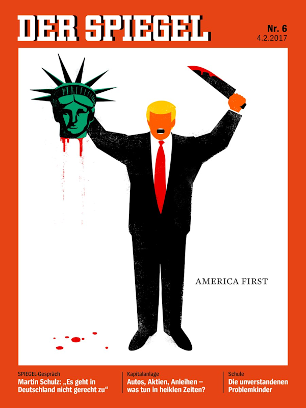der spiegel published a very graphic cover on trump 39 s