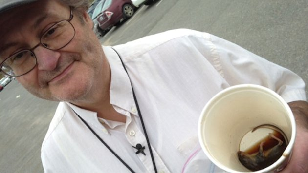 McDonald's coffee cup contained dead mouse, Fredericton man says. (CBC)