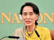 Myanmar opposition leader Aung San Suu Kyi speaks during a press conference in Tokyo on April 17, 2013. Her refusal to condemn attacks on Muslims in Myanmar has dimmed the Nobel laureate's lustre among global rights campaigners, but observers say her reticence will do her no harm with voters