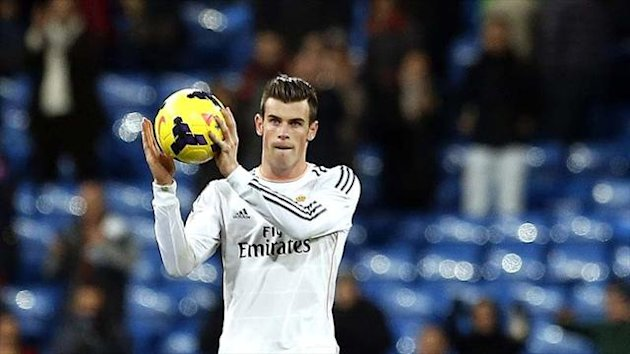 Gareth Bale of Real Madrid takes home the match ball (Reuters)