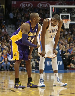 Kobe and KD plan their entire lives. (Photo by Brett Deering/Getty Images)
