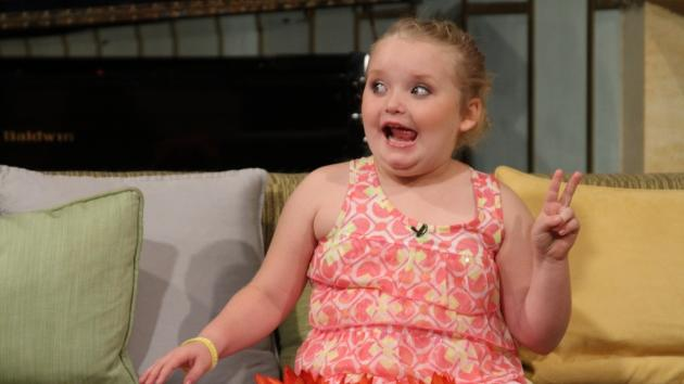 Honey Boo Boo -- aka TLC child star Alana Thompson -- flashes a funny face and a peace sign on Access Hollywood Live on October 16, 2012 -- Access Hollywood