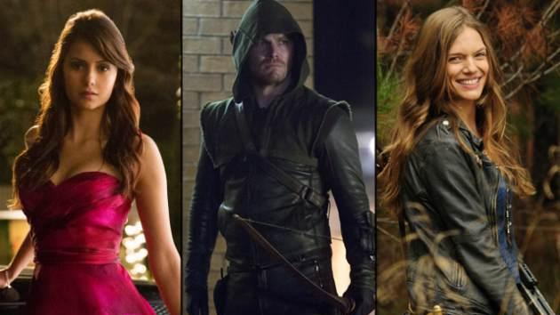 Nina Dobrev from 'The Vampire Diaries,' Stephen Amell from 'Arrow,' and Tracy Spiridakos from 'Revolution' -- NBCThe CW
