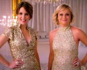 First Look Video: Tina Fey and Amy Poehler Go Glam in First Golden Globes Promo