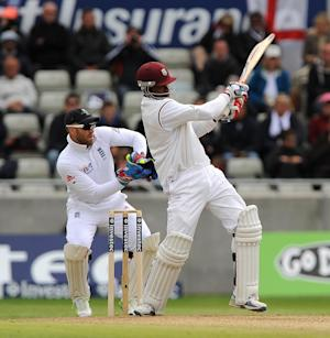 Marlon Samuels finished on a career-best Test score of 260 on day three against Bangladesh
