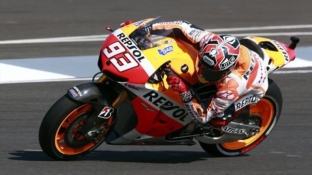 Motorcycling - Marquez leads Pedrosa in first practice