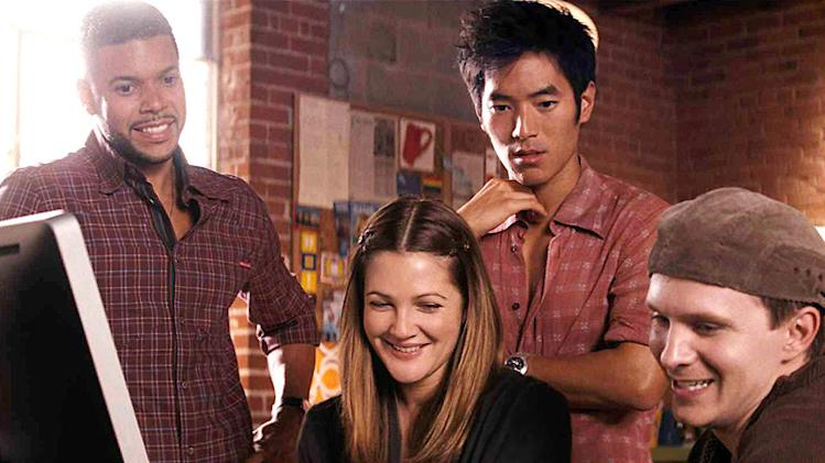 Wilson Cruz Drew Barrymore Leonardo Nam Rod Keller He's Just Not That Into You Production Stills 2009 New Line Cinema