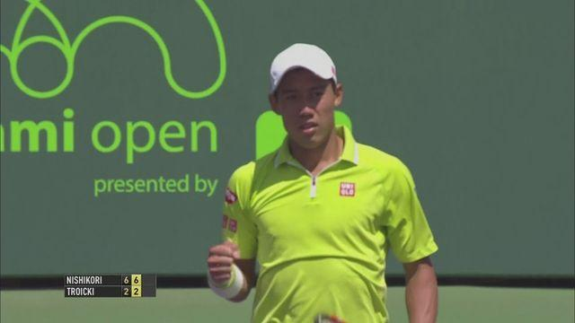 Nishikori, Djokovic, Isner win in Miami