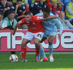 Harry Bunn in action for Crewe earlier this season against Coventry