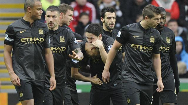 Premier League - Man City start 2014 with victory at Swansea