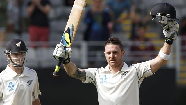 Cricket - New Zealand gain control after McCullum heroics