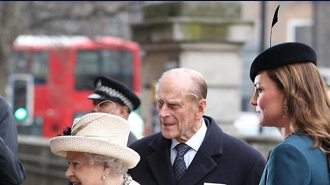 The Queen, Duke Of Edinburgh & Duchess Of Cambridge Visit Baker Street Underground Station