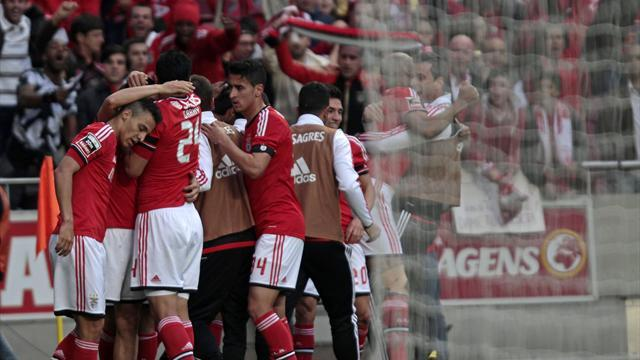 European Football - Benfica beat Olhanense to clinch Portuguese title