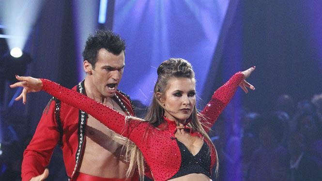 """Audrina Patridge and Tony Dovolani perform on """"Dancing with the Stars."""""""