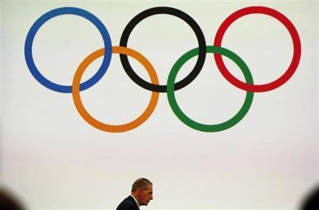 IOC President Rogge attends the board session in Buenos Aires