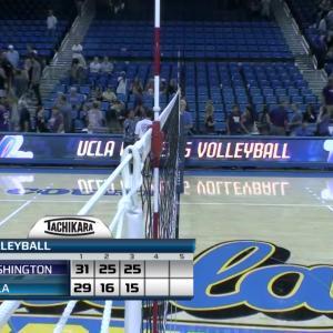 Recap: No. 5 Washington women's volleyball sweeps No. 11 UCLA