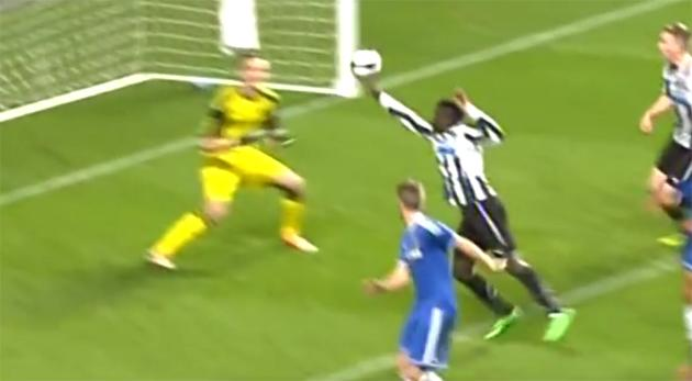 Worse than Maradona? – Unbelievable handball from Newcastle starlet