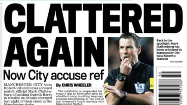 Premier League - Paper Round: Now City accuse Clattenburg