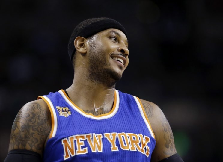 Carmelo Anthony is in disbelief. (Associated Press)