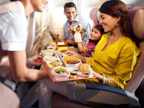 Emirates economy class plane food meal