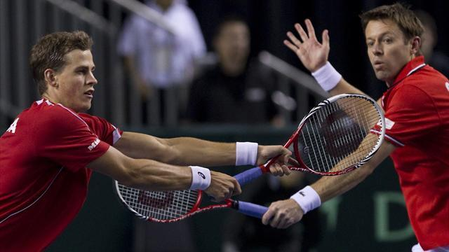 Davis Cup - Canada win doubles to lead Italy