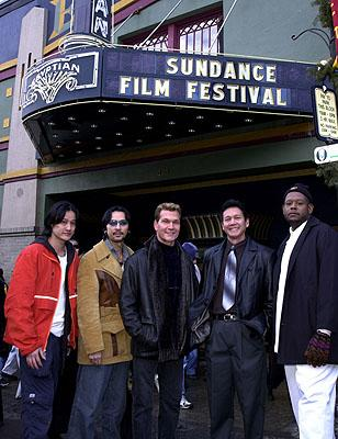 Don Duong, Timothy Linh Bui, Patrick Swayze, Don Duong and Forest Whitaker of Green Dragon Sundance Film Festival Day 3 Park City, Utah 1/20/2001