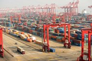 This file photo shows Yangshan Deep Water Port in Shanghai, pictured on April 16, 2012. China said Wednesday that it expects foreign trade to grow at a similar pace to the economy this year, indicating a feeble pickup from 2012