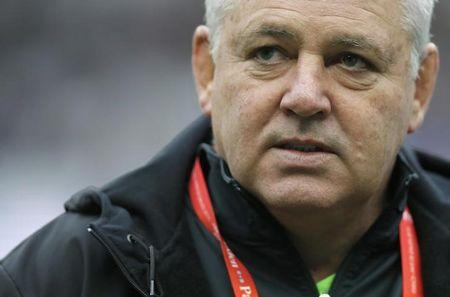 Wales Head Coach Gatland looks on as he waits for the start of their Six Nations rugby union match against France at the Stade de France stadium in Saint-Denis, near Paris