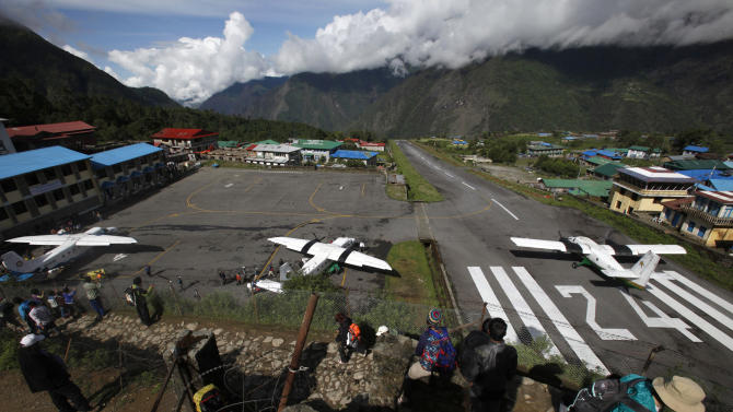 Adventure of Everest begins at tiny Nepal airstrip