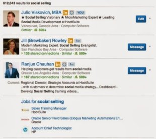How to Be Found on LinkedIn image LinkedIn Social Selling Searches