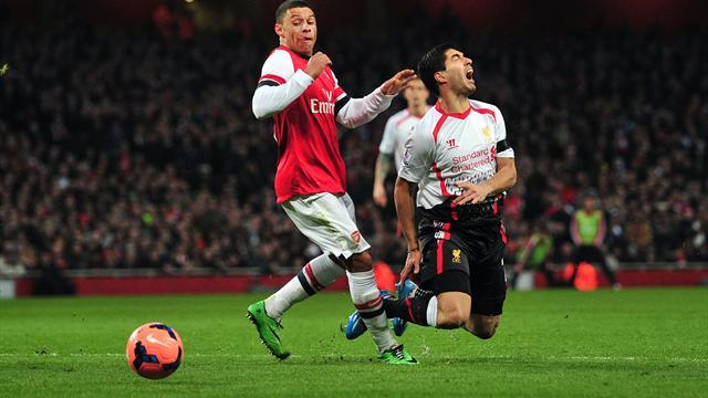 FA Cup - Suarez denied penalty as Arsenal survive Liverpool onslaught to progress