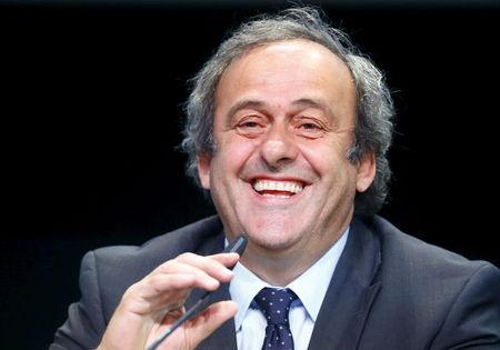 File photo of UEFA President Michel Platini addressing a news conference after a UEFA meeting in Zurich