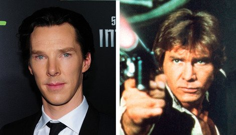 Benedict Cumberbatch as Han Solo? I'm not so sure about that...