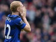Manchester United's Paul Scholes reacts during the Premier League football match against Sunderland at the Stadium of Light in Sunderland