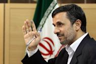 Iranian President Mahmoud Ahmadinejad, seen here on May 4, will visit Beijing next month, a spokesman for the Islamic republic's embassy said Wednesday, amid an escalating crisis over Tehran's nuclear programme
