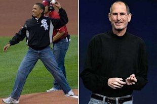 Normcore at its finest: Barack Obama, Steve Jobs